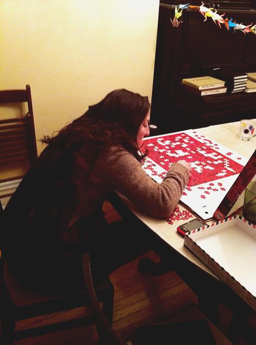 cozy puzzle time