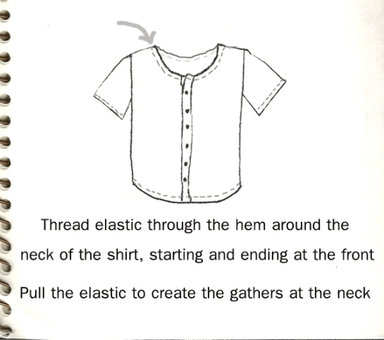 peasant shirt tutorial 2