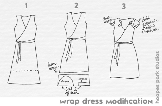 wrap dress modification